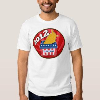 American election ballot box map of USA 2012 T Shirts