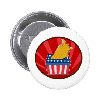 American election ballot box map of USA Buttons