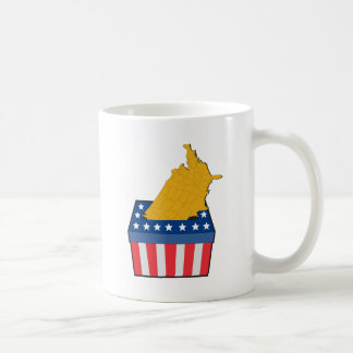 American election ballot box map of USA Classic White Coffee Mug