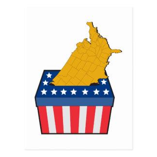 American election ballot box map of USA Postcard