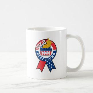 American election ballot box map of USA ribbon 201 Classic White Coffee Mug