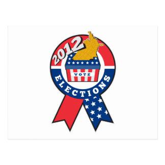 American election ballot box map of USA ribbon 201 Post Card