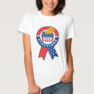 American election ballot box map of USA ribbon Shirts