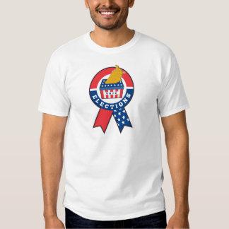 American election ballot box map of USA ribbon Tshirt