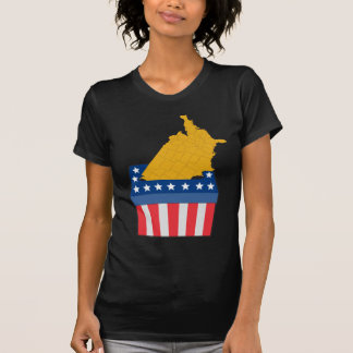 American election ballot box map of USA T-shirt