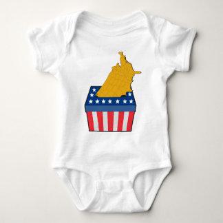 American election ballot box map of USA Tshirts