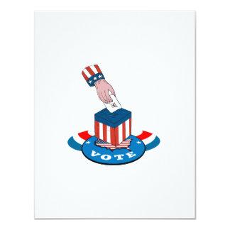 """American Election Voting Ballot Box Retro 4.25"""" X 5.5"""" Invitation Card"""