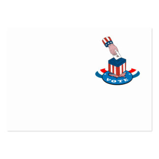 American Election Voting Ballot Box Retro Large Business Cards (Pack Of 100)