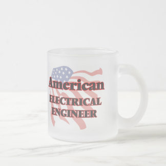 American Electrical Engineer 10 Oz Frosted Glass Coffee Mug