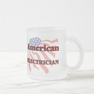 American Electrician 10 Oz Frosted Glass Coffee Mug