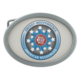 American Energy Independence Oval Belt Buckles