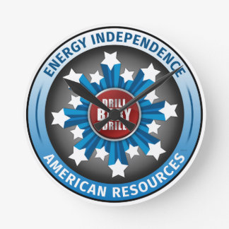 American Energy Independence Round Clock