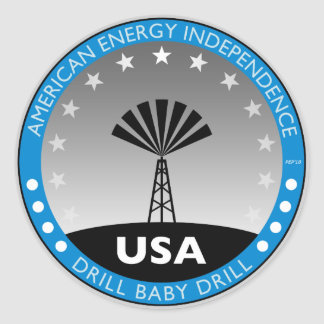 American Energy Independence Round Stickers