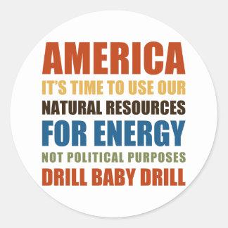 American Energy Classic Round Sticker