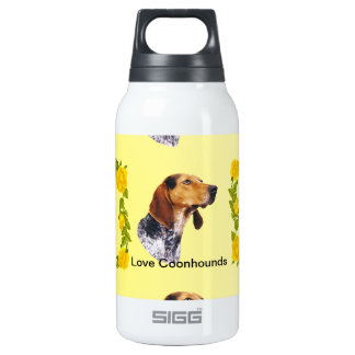 American English Coonhound and Yellow Roses Thermos Bottle
