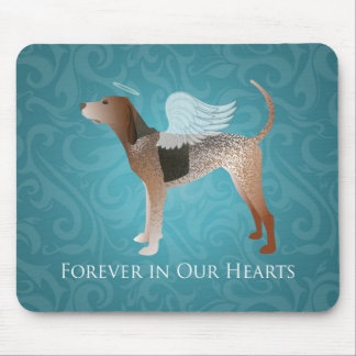 American English Coonhound Angel Pet Memorial Mouse Pad