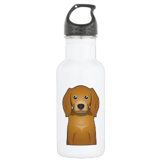 American English Coonhound Cartoon Portrait Stainless Steel Water Bottle
