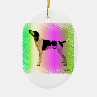 American English Coonhound Ceramic Ornament