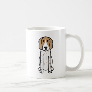 American English Coonhound Dog Breed Cartoon Mug