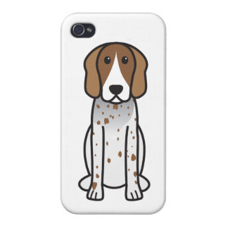 American English Coonhound Dog Cartoon Cases For iPhone 4