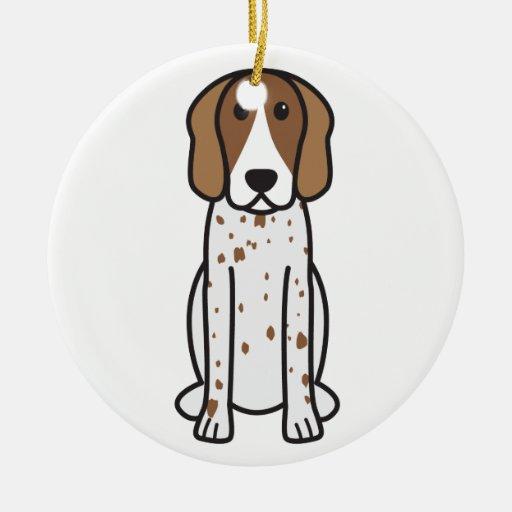 American English Coonhound Dog Cartoon Ornaments