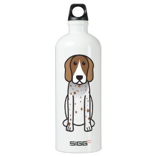 American English Coonhound Dog Cartoon Water Bottle