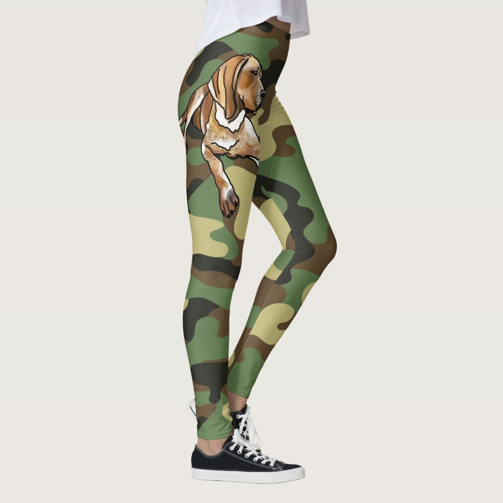 American English Coonhound Love Camo Leggings
