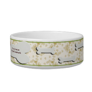 American English Coonhound with Tan Leaves Cat Water Bowl