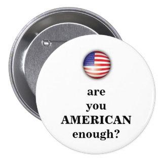 American Enough - simple Pinback Button
