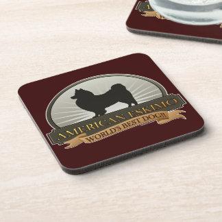 American Eskimo Beverage Coaster