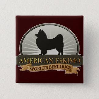 American Eskimo Button