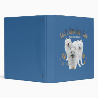 American Eskimo Can't Have Just One Binder