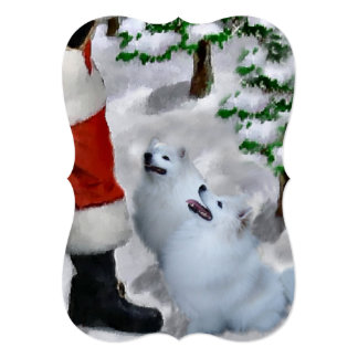 American Eskimo Christmas Cards