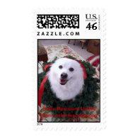 American Eskimo Christmas stamp
