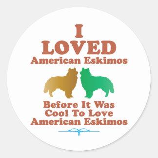 American Eskimo Classic Round Sticker