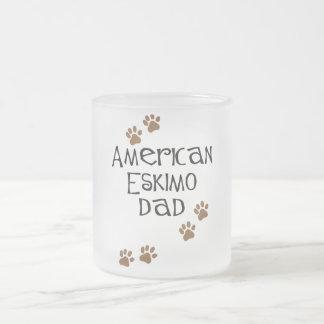 American Eskimo Dad Frosted Glass Coffee Mug