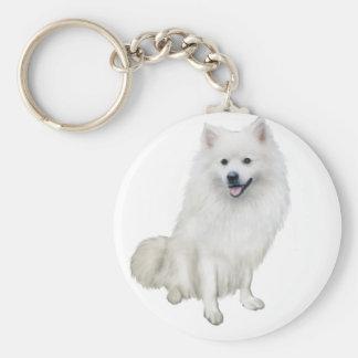 American Eskimo Dog (A) Basic Round Button Keychain