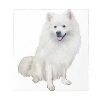 American Eskimo Dog (A) Memo Note Pads
