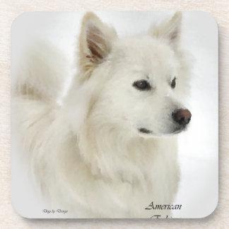 American Eskimo Dog Art Beverage Coaster