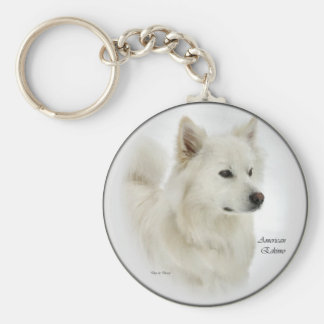 American Eskimo Dog Art Gifts Keychain