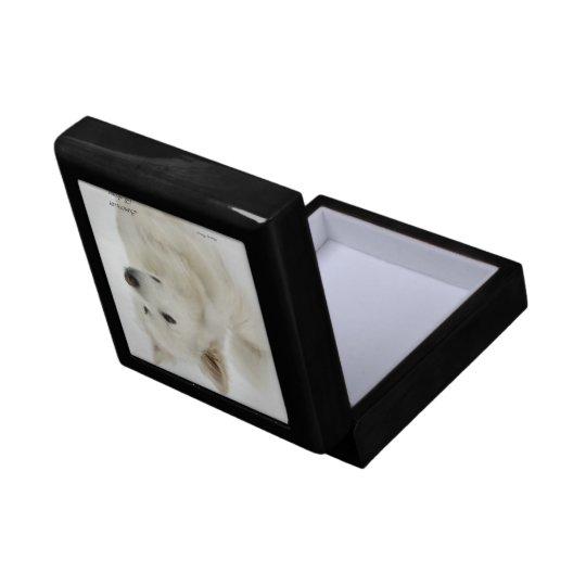 American Eskimo Dog Art Jewelry Box