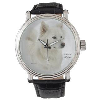 American Eskimo Dog Art Wristwatches