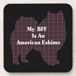 American Eskimo Dog BFF Coaster