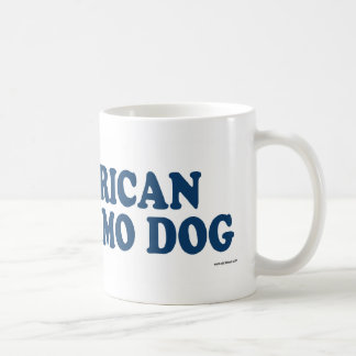 American Eskimo Dog Blue Coffee Mug