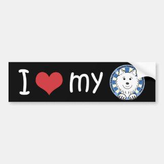 American Eskimo Dog Bumper Sticker