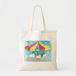 American Eskimo Dog Carousel Tote Bag