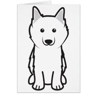 American Eskimo Dog Cartoon Card