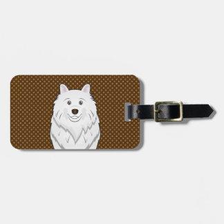 American Eskimo Dog Cartoon Paws Tags For Luggage
