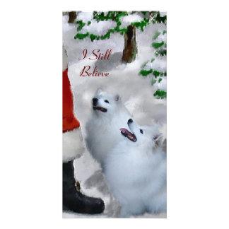 American Eskimo Dog Christmas Gifts Custom Photo Card