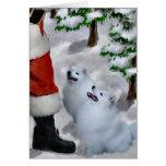 American Eskimo Dog Christmas Greeting Card
